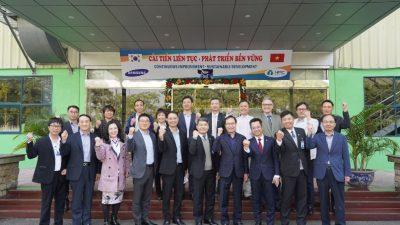 Bộ Công Thương và Công ty Samsung Việt Nam thăm, làm việc tại Nhựa Hà Nội và An Trung Industries