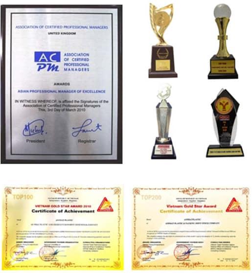 Top các giải thưởng tiêu biểu của Tập đoàn An Phát Holdings