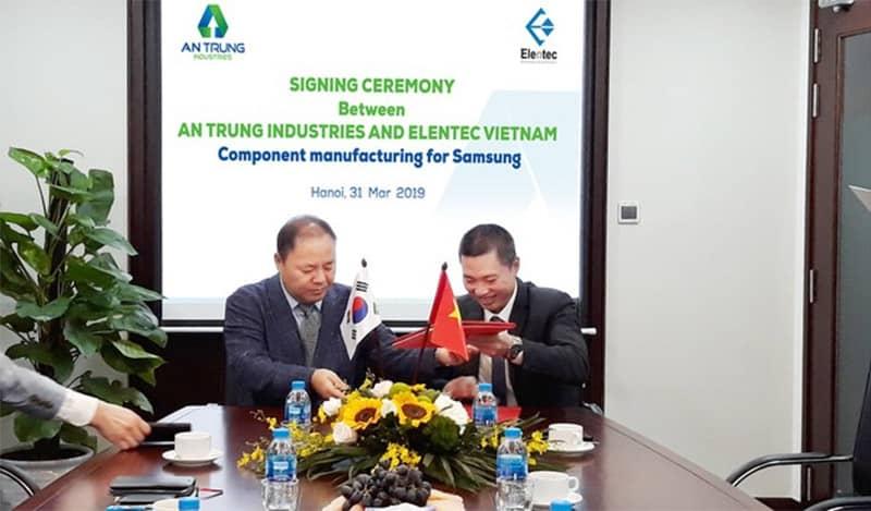 Lễ ký kết hợp tác giữa An Trung Industries và Samsung