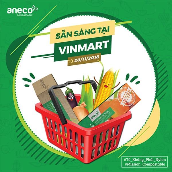 AnEco đã có mặt tại hệ thống siêu thị và cửa hàng của Vinmart