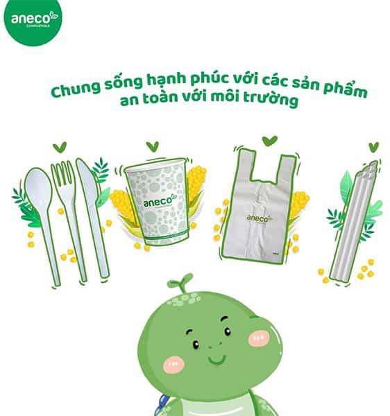 Mọi sản phẩm của AnEco đều đạt chứng nhận OK Compost Home, OK Compost Industrial của TUV về khả năng phân huỷ hoàn toàn