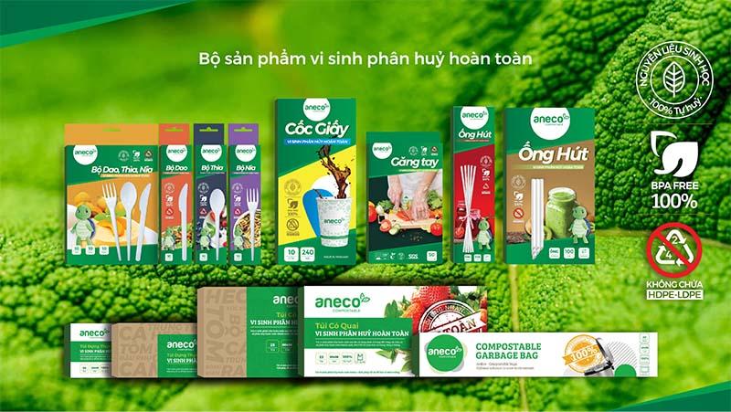 Sử dụng bộ sản phẩm sinh học phân hủy hoàn toàn AnEco thay cho đồ nhựa dùng một lần