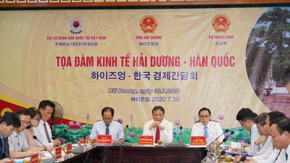 Đoàn đại biểu hội thảo kinh tế Hải Dương – Hàn Quốc đến thăm nhà máy An Phát Bioplastics