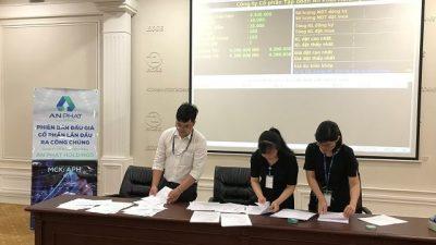 Phiên đấu giá cổ phần An Phát Holdings sáng ngày 22/06