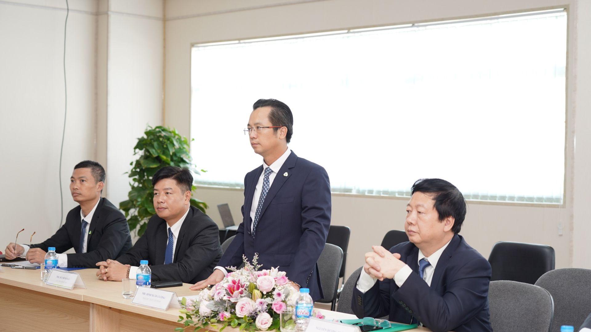Ông Đinh Xuân Cường- Phó Chủ tịch, CEO An Phát Holdings phát biểu tại Lễ tổng kết chương trình Tư vấn cải tiến của Bộ Công thương và Samsung Việt Nam