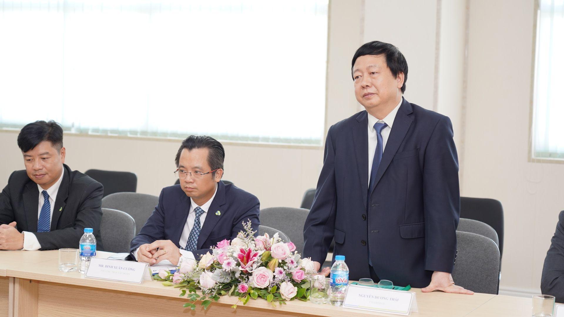 Ông Nguyễn Dương Thái – Chủ tịch UBND tỉnh Hải Dương phát biểu tại Lễ tổng kết chương trình Tư vấn cải tiến của Bộ Công thương và Samsung Việt Nam