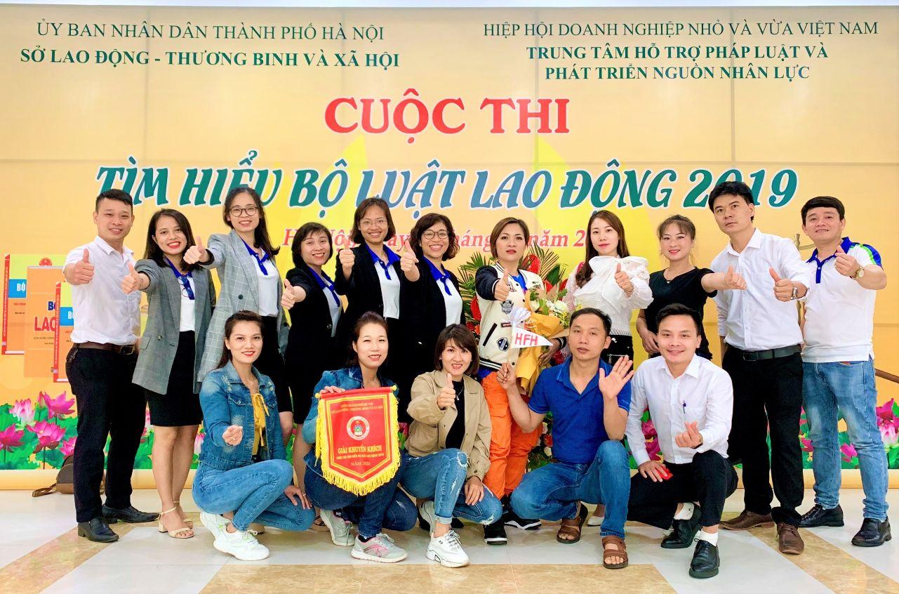 Nhựa Hà Nội đạt giải tại cuộc thi Tìm hiểu Bộ luật Lao động 2019
