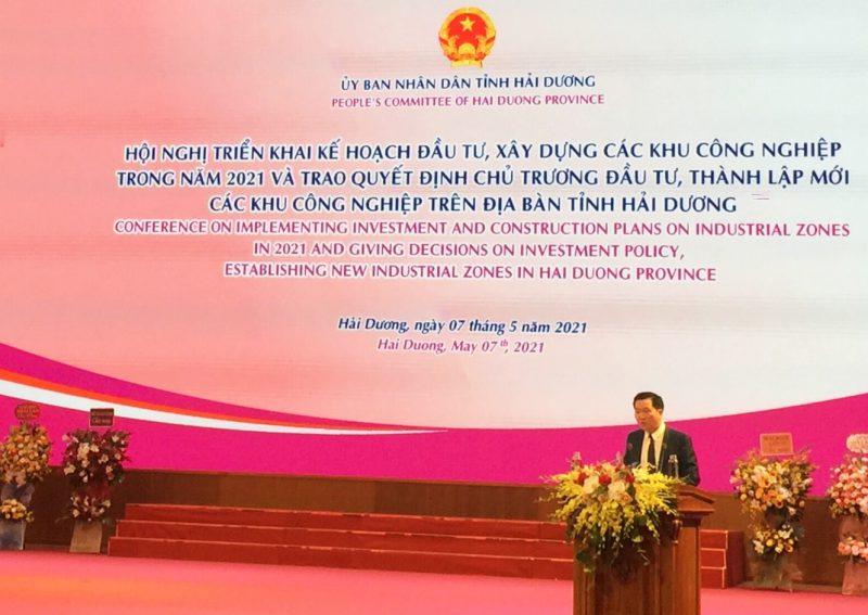 Ông Phạm Văn Tuấn - Quyền Phó Tổng Giám đốc Tập đoàn An Phát Holdings, Tổng Giám đốc CTCP KCN Kỹ thuật cao An Phát 1 phát biểu tại sự kiện