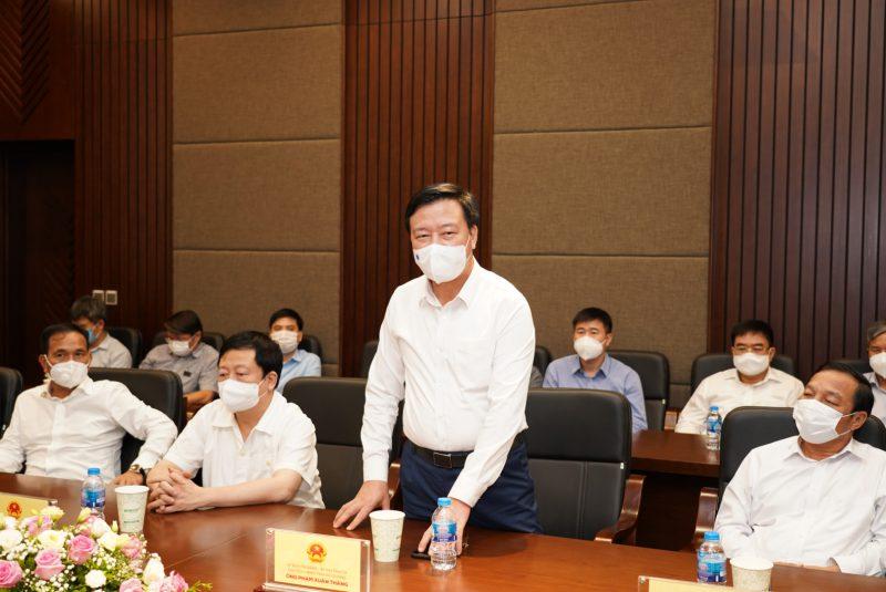Ông Phạm Xuân Thăng, Bí Thư tỉnh ủy tỉnh Hải Dương phát biểu