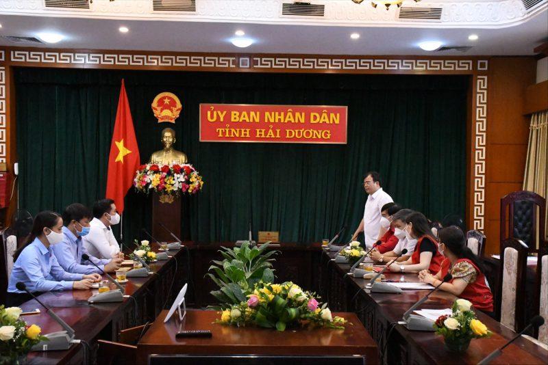 Chính quyền tỉnh Hải Dương gặp gỡ doanh nghiệp tại buổi Lễ tiếp nhận, ủng hộ Quỹ nhân đạo tỉnh năm 2021